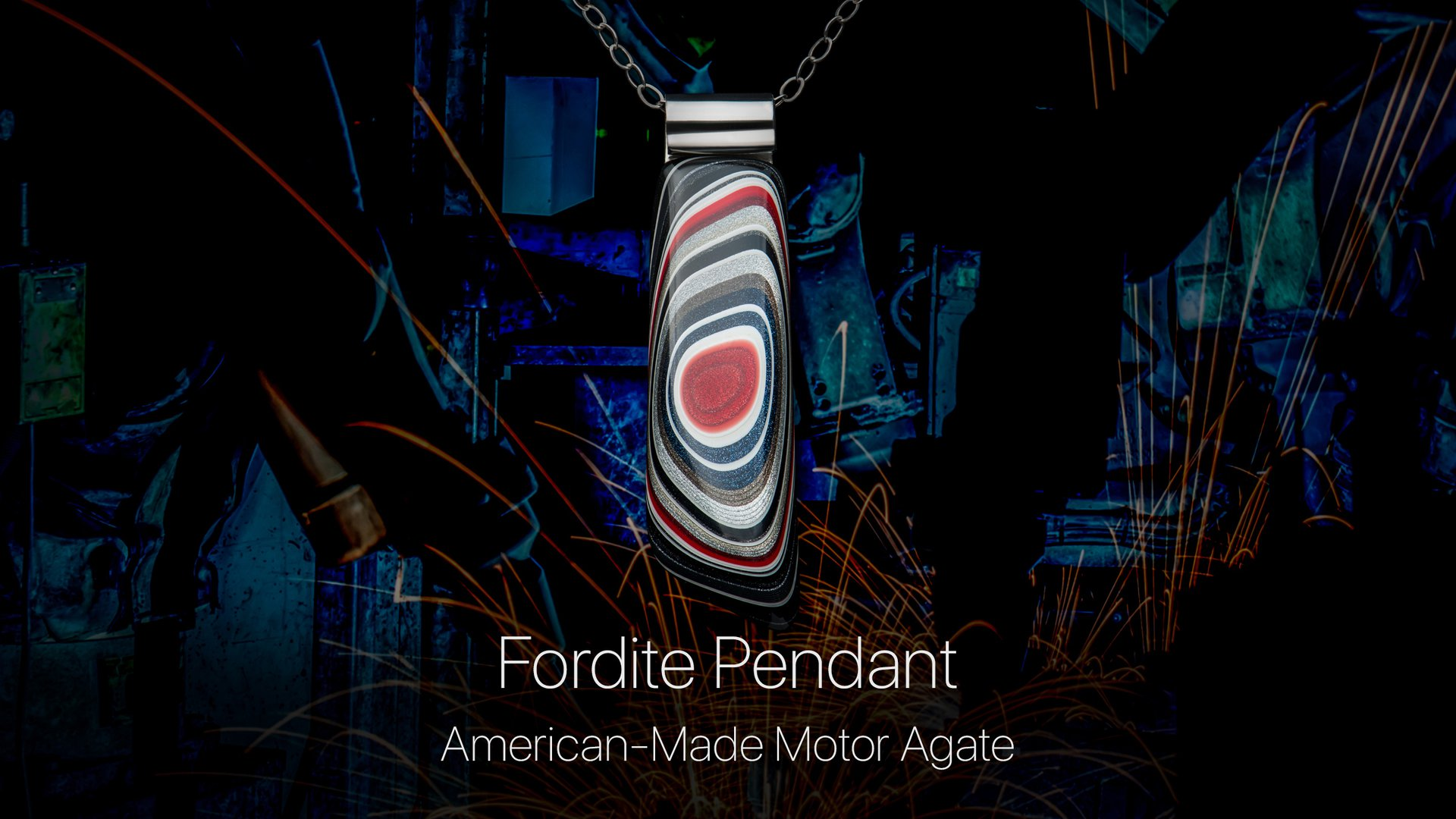 Details about the Fordite Pendant Necklace