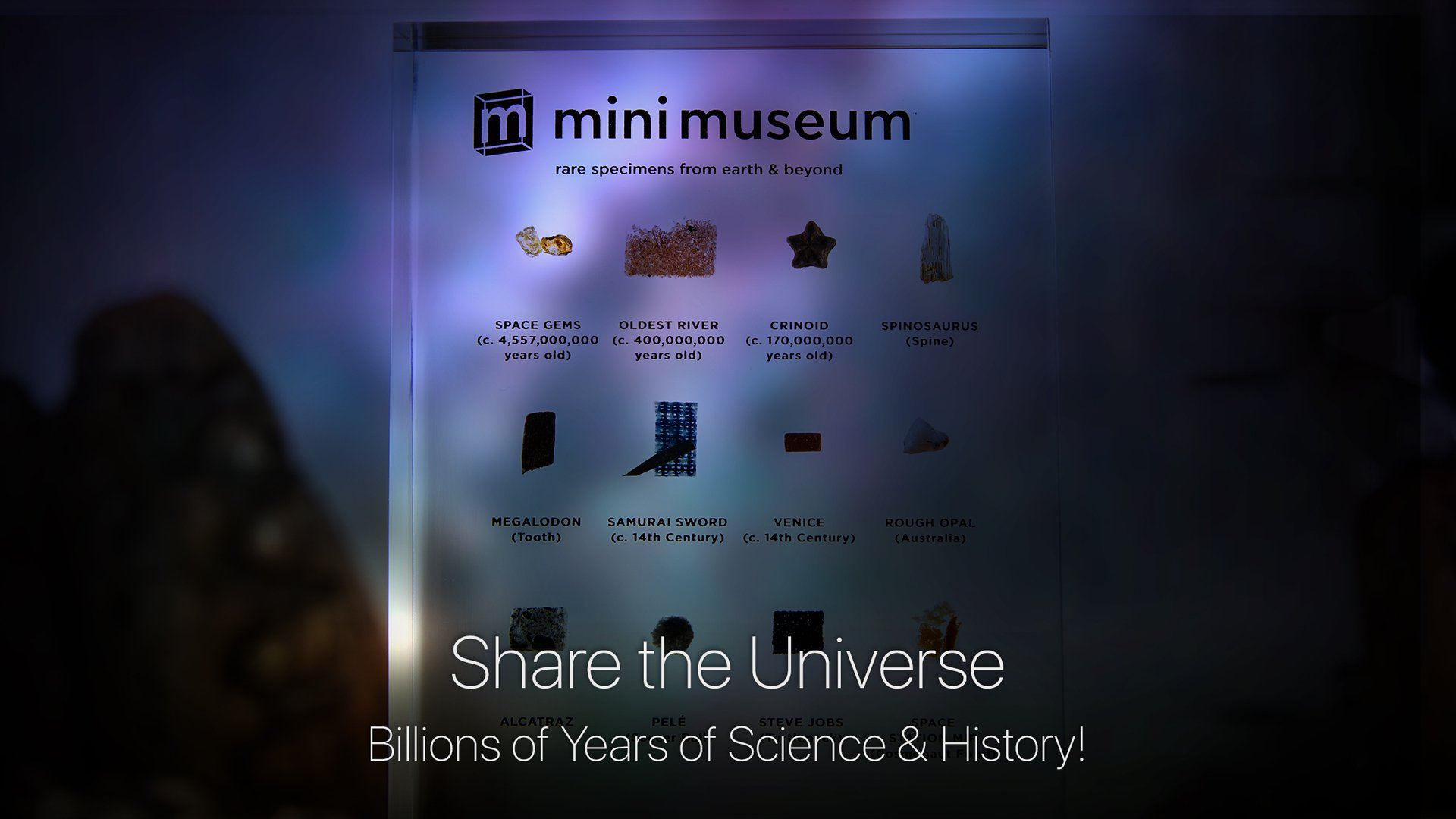 Share the Universe with Billions of Years of Science and History!