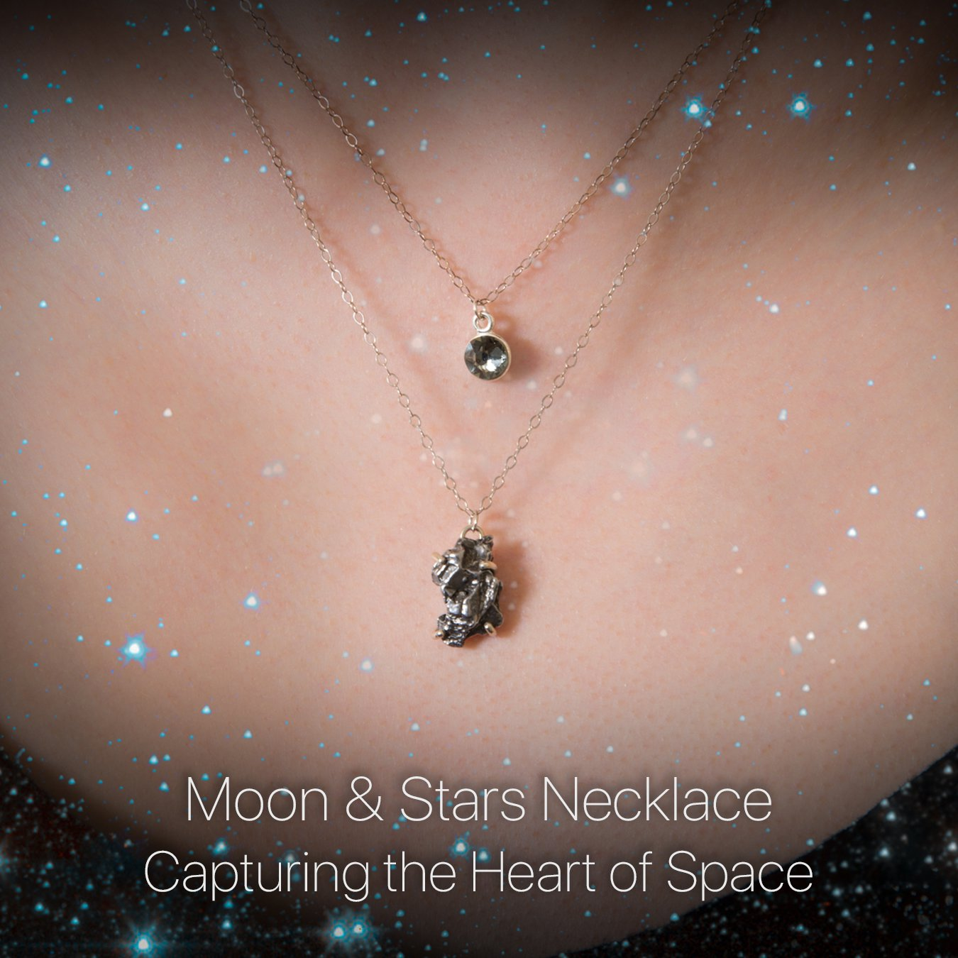Details about the Moon & Stars Necklace