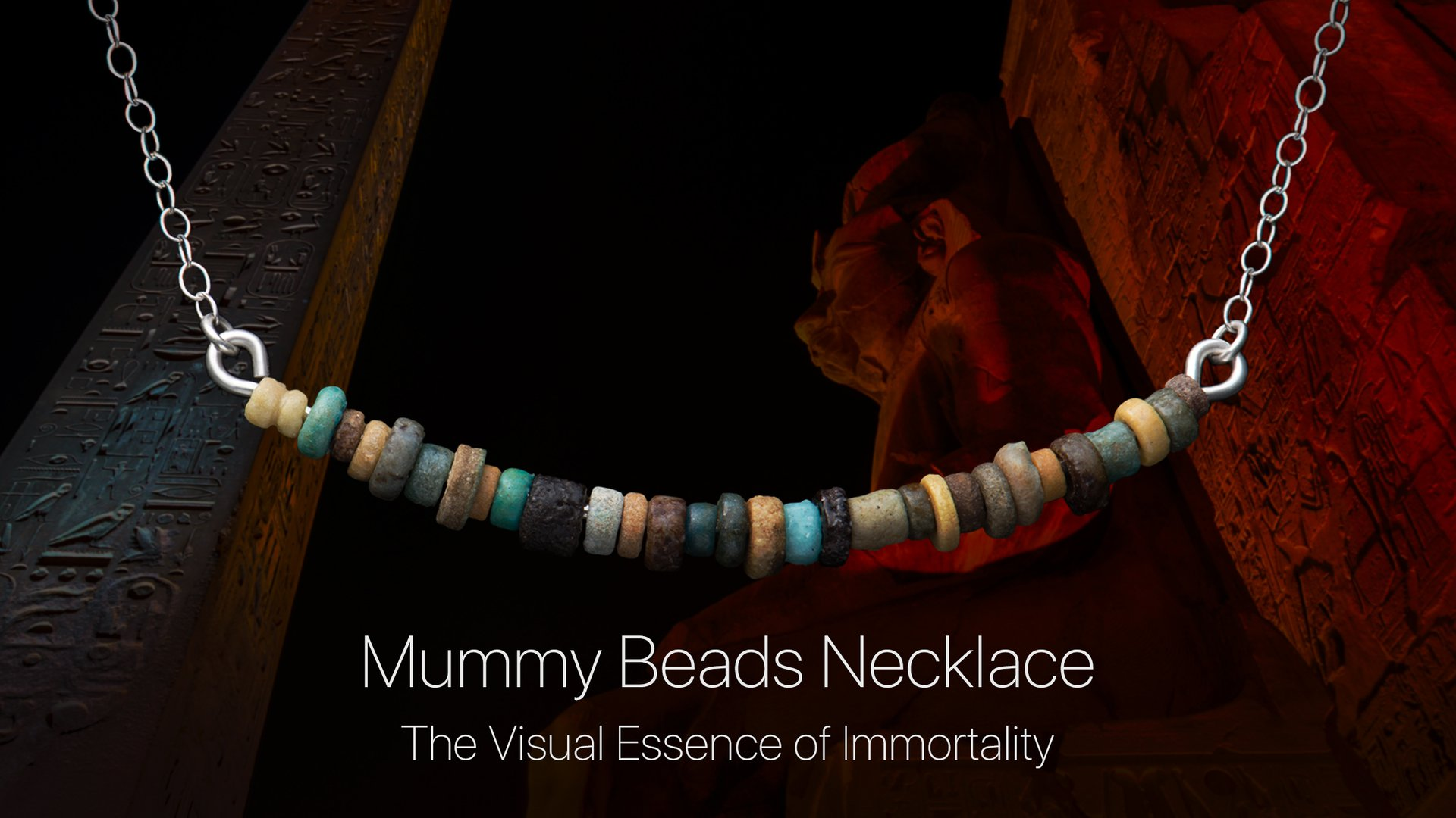 Details aboutthe Mummy Beads Necklace