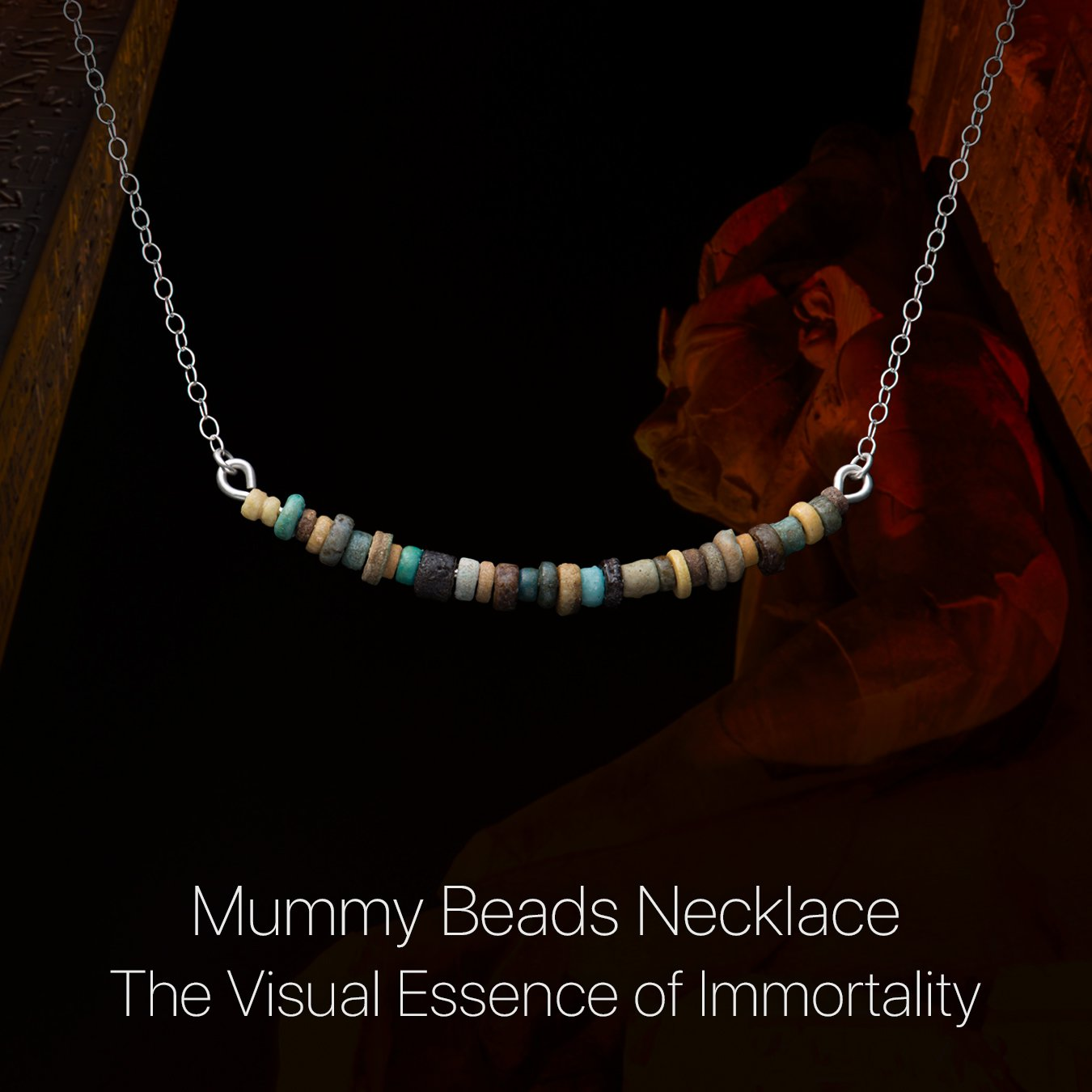 Details about the Mummy Beads Necklace