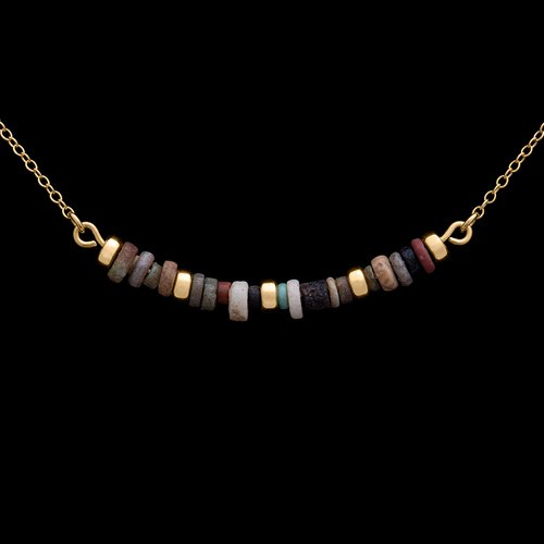 Mummy Beads Necklace Gold