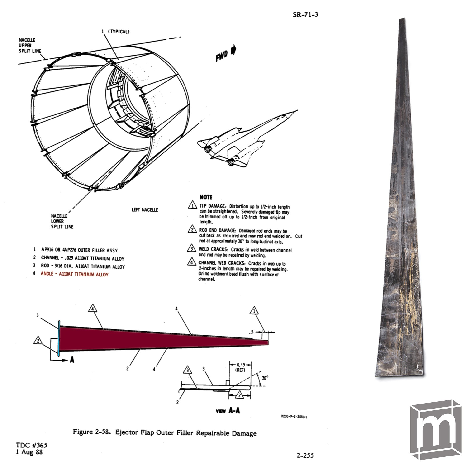 SR-71 Technical Repair Manual. (source: Daniel Freeman, Supervisor and  Chief of Metals Technology for the 9th Reconnaissance Wing I)